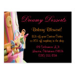 Bakery postcards desserts fun cute sweet colorful