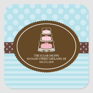 Bakery Pretty Pastel Product Label Stickers