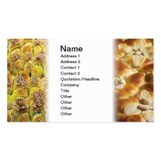 Bakery products business cards