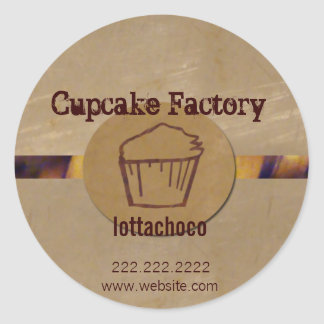 Bakery professional classic round sticker