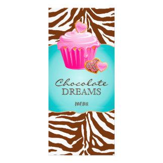Bakery Rack Card Cupcake Pink Chocolate Brown