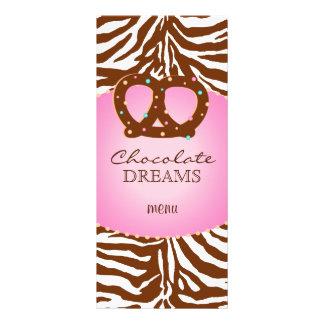Bakery Rack Card Pretzel Pink Chocolate Brown