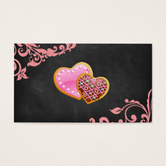 Bakery Salon Spa Floral Business Card Chalkboard