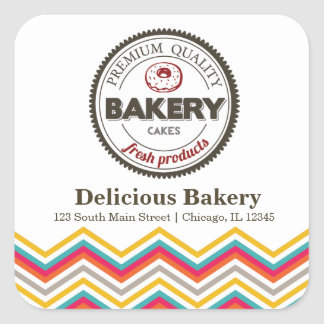 Bakery Square Sticker