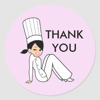 Bakery Style Chef Cook Thank You Labels