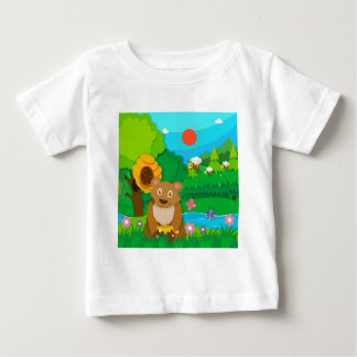 Bakery theme with children and cupcakes baby T-Shirt