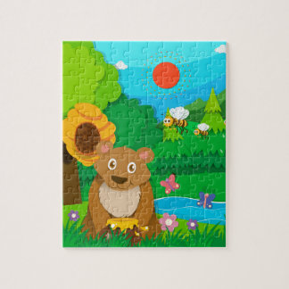 Bakery theme with children and cupcakes jigsaw puzzle