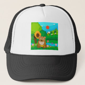 Bakery theme with children and cupcakes trucker hat