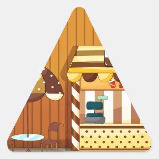 Bakery Triangle Sticker
