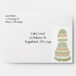 Bakery Wedding Cake Envelope