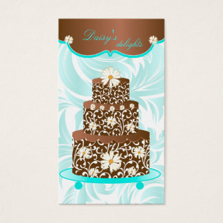 Bakery Wedding Cake Pastry Chef Chocolate Daisy Business Card
