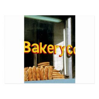 Bakery Window Postcard