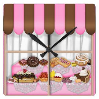 Bakery Window Sweet Treat clock