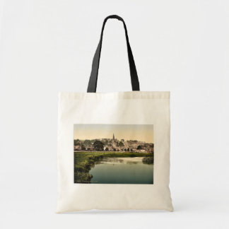 Bakewell, from river, Derbyshire, England rare Pho Bag