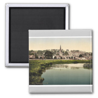 Bakewell, from river, Derbyshire, England rare Pho 2 Inch Square Magnet