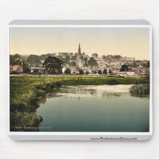 Bakewell, from river, Derbyshire, England rare Pho Mouse Pad