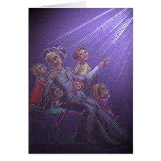 Bakhita y niños tarjeta de felicitación