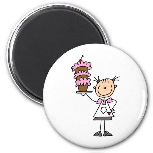 Baking A Cake Magnet Magnets