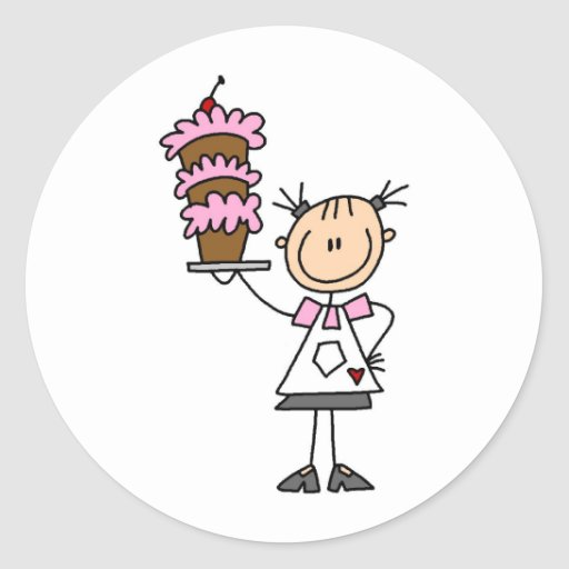 Baking A Cake Sticker