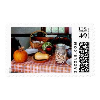 Baking a Squash and Pumpkin Pie Stamp