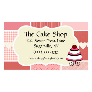 Baking and Bakery Boutique, Pink Polka Dot Heart Business Card