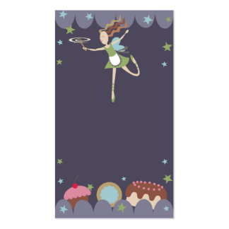 baking baker pastry chef kitchen fairy business ca Double-Sided standard business cards (Pack of 100)