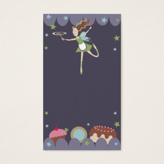 baking baker pastry chef kitchen fairy business ca business card