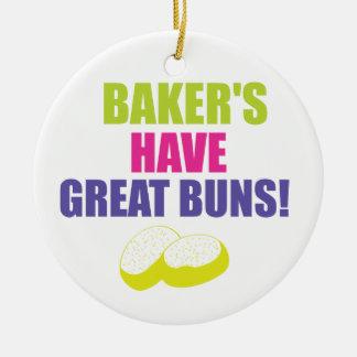 Baking - Bakers Have Good Buns Ceramic Ornament