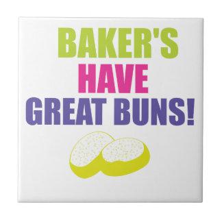 Baking - Bakers Have Good Buns Ceramic Tile