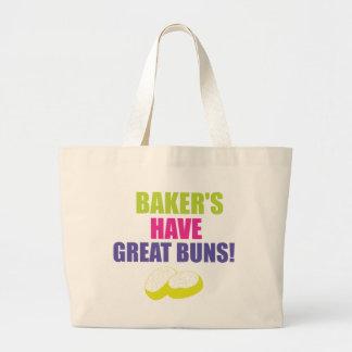 Baking - Bakers Have Good Buns Large Tote Bag