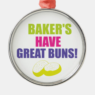 Baking - Bakers Have Good Buns Metal Ornament