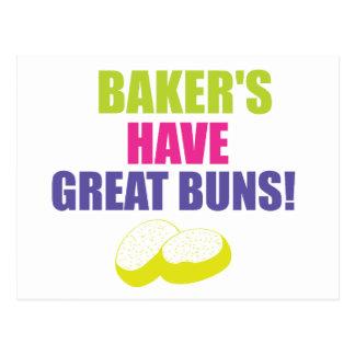 Baking - Bakers Have Good Buns Postcard