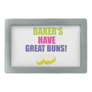 Baking - Bakers Have Good Buns Rectangular Belt Buckle