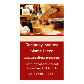 Baking Bakery Cooking Chef Business Cards