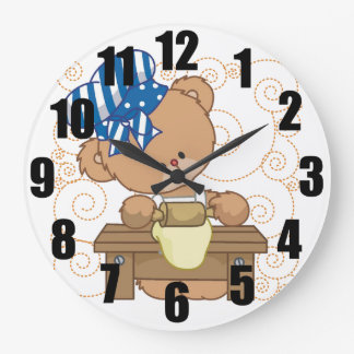 Baking Bear Large Kitchen Clock