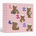 baking bears recipe note book vinyl binders