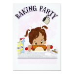 Baking Birthday Party Announcements