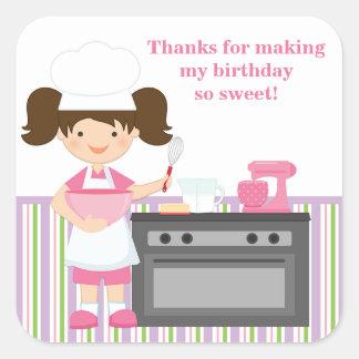 Baking Birthday Party Sticker