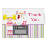 Baking Birthday Party Thank You Greeting Cards