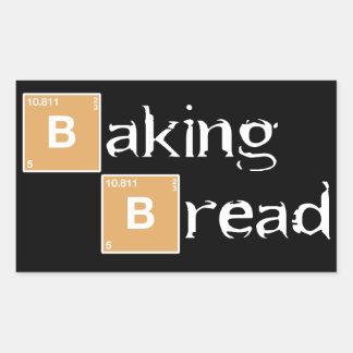 Baking Bread A Rectangular Sticker