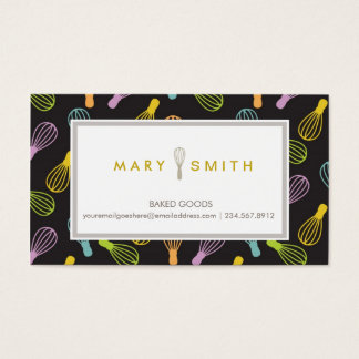 Baking Business Card Culinary Classes Card