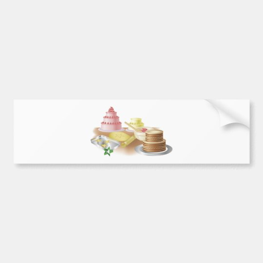 Baking cakes and cookies bumper sticker