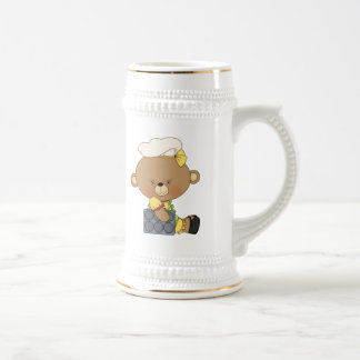 Baking Chef Baker Bear With Cupcake Pan Beer Stein