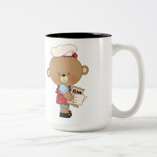 Baking Chef Baker Bear With Ingredients Coffee Mug