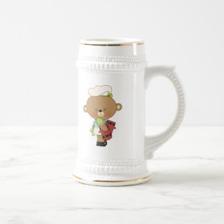 Baking Chef Baker Bear With Oven Mitts Beer Stein