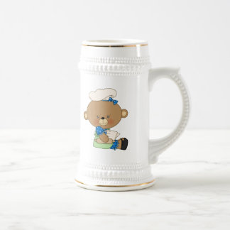 Baking Chef Baker Bear With Rolling Pin Beer Stein