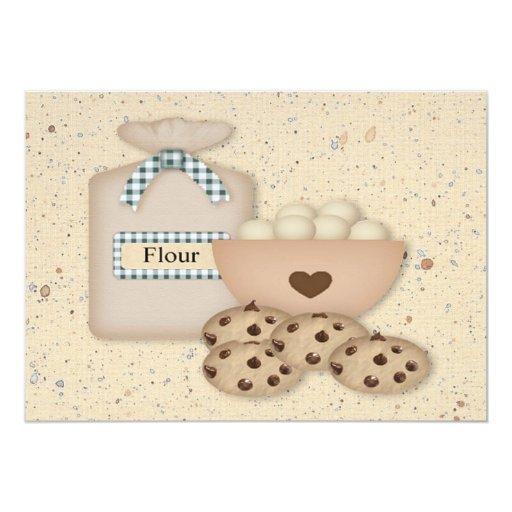 "Baking Chocolate Chip  Cookie Swap Invitation 5"" X 7"" Invitation Card"