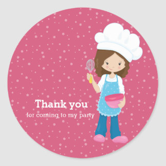Baking * choose your background color classic round sticker