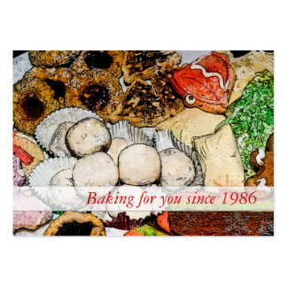 Baking - Christmas Cookies Large Business Card