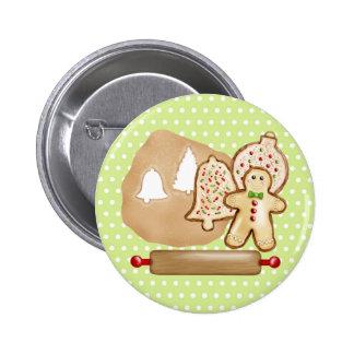 Baking Christmas Cookies Pinback Button